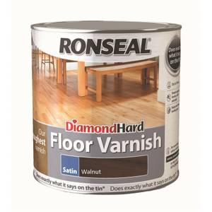 Ronseal Diamond Hard Floor Varnish - Walnut 2.5L