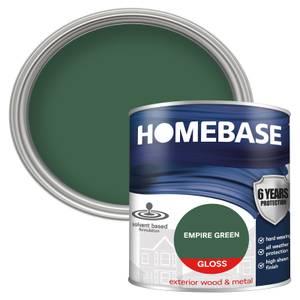 Homebase Exterior Gloss Paint - Empire Green 750ml