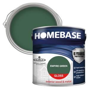 Homebase Exterior Gloss Paint - Empire Green 2.5L