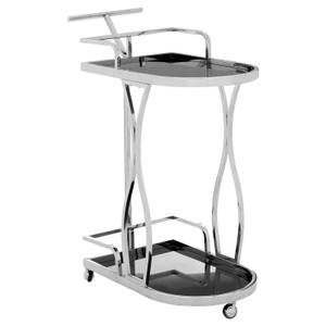 Nova 2 Tier Silver Wavy Design Trolley