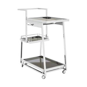 Nova 3 Tier Silver Trolley