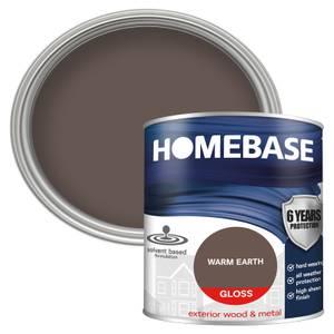 Homebase Exterior Gloss Paint - Warm Earth 750ml