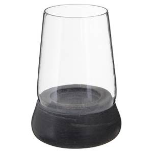 Grey Marble Glass Candle Holder