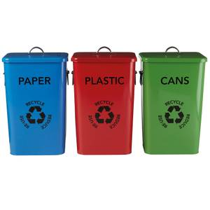 Set of 3 Recycle Logo Bins