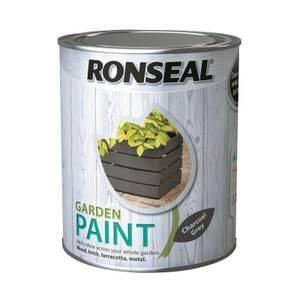 Ronseal Garden Paint - Charcoal Grey 750ml