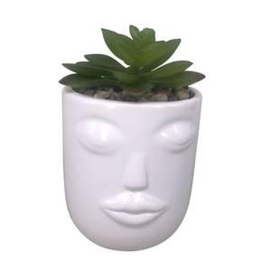 Mrs. Face Plant Pot - White