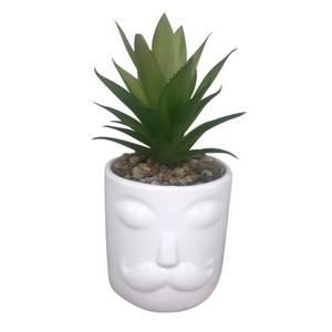 Mr. Face Plant Pot - White