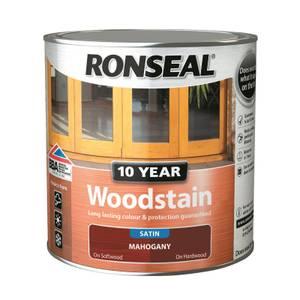Ronseal 10 Year Woodstain Mahogany Satin 2.5L