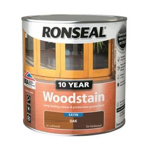 Ronseal 10 Year Woodstain Oak Satin 2.5L
