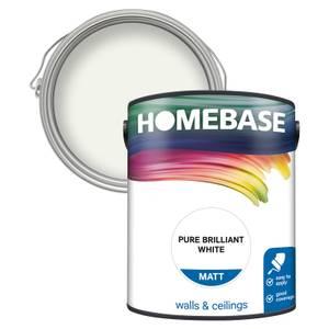 Homebase Matt Paint - Pure Briliant White 5L