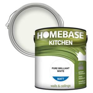 Homebase Kitchen Matt Paint - Pure Brilliant White 2.5L