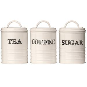 Sketch Tea, Coffee & Sugar Canisters