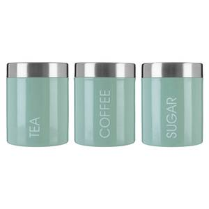 Pistachio Enamel Liberty Canisters - Set of 3