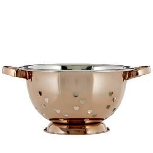 Hearts Design Colander - Rose Gold