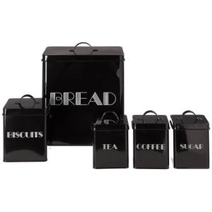 5 Piece Storage Set - Black