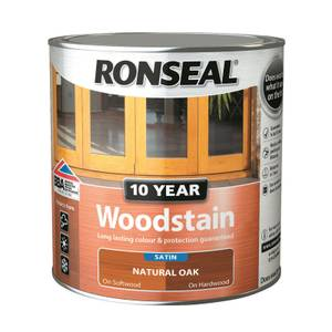 Ronseal 10 Year Woodstain Natural Oak Satin 2.5L