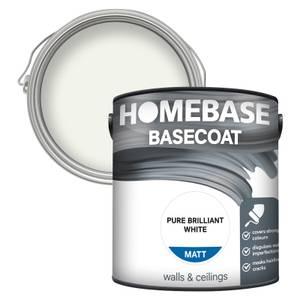 Homebase Basecoat Paint - Pure Brilliant White 2.5L