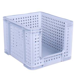 Open Fronted Crate - Dove Grey - 35L