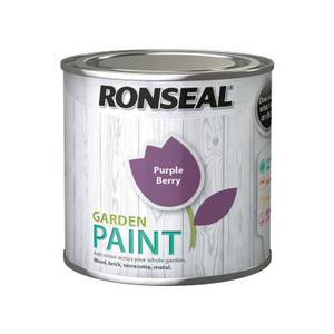 Ronseal Garden Paint - Purple Berry 250ml