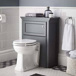 Bathstore Savoy Toilet Unit - Charcoal Grey