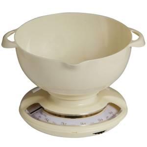 Cream Plastic Kitchen Scale - 5kg