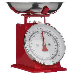 Red Standing Kitchen Scale - 5kg