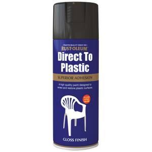 Rust-Oleum Direct to Plastic Spray Paint - Black - 400ml