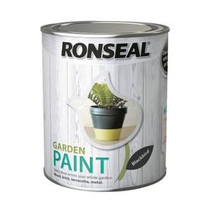Ronseal Garden Paint - Blackbird 750ml