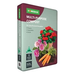 Homebase Multi-Purpose Compost - 50L