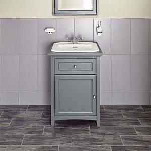 Bathstore Savoy 600mm 1 Tap Hole Floorstanding Vanity Unit - Charcoal Grey