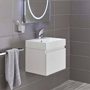 Bathstore Mino 500mm Basin & Wall Mounted Vanity Unit - White Gloss