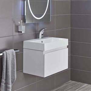 Bathstore Mino 600mm Basin & Wall Mounted Vanity Unit - White Gloss