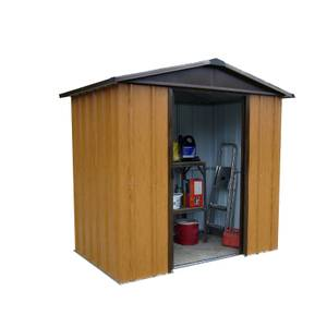6x4.5ft Wood Effect Shed (includes Steel Floor Frame kit)