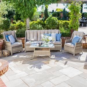 Nova Albion 3 Seater Outdoor Rattan Sofa Set in Natural