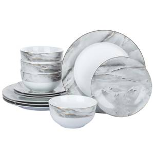 Marble and Gold 12 Piece Dinner Set