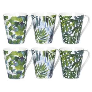 Leaf Mugs - Set of 6