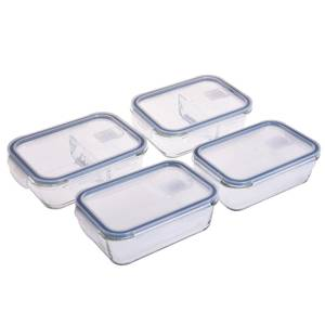 Glass Food Containers - 4 Piece Set