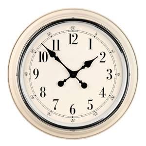 Wall Clock - Ivory with Chrome Finish