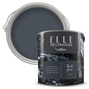 ELLE Decoration by Crown Flat Matt Paint - Black Glass 2.5L