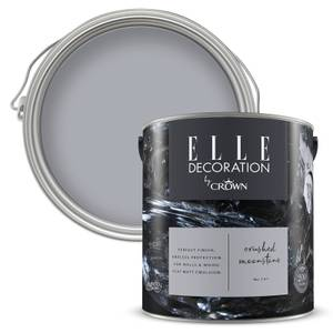 ELLE Decoration by Crown Flat Matt Paint - Crushed Moonstone 2.5L