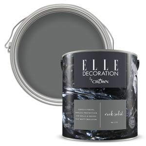 ELLE Decoration by Crown Flat Matt Paint - Rock Solid 2.5L
