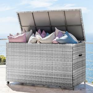 Outdoor Rattan Cushion Storage Box - White Wash