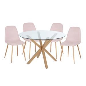 Ludlow 4 Seater Dining Set - Pink