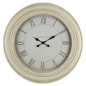 Wall Clock - Washed White