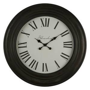 Wall Clock - Distressed Black