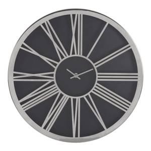 Baillie Wall Clock - Chrome & Black