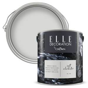 ELLE Decoration by Crown Flat Matt Paint - Soft Alabaster 2.5L
