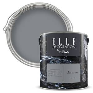 ELLE Decoration by Crown Flat Matt Paint - Stoneware 2.5L