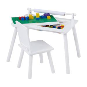 Multi-purpose Writing Table & Chair with Construction Board - White