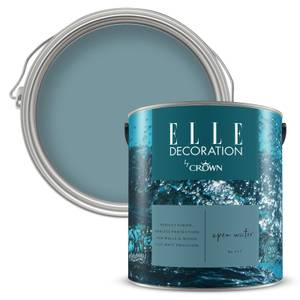 ELLE Decoration by Crown Flat Matt Paint - Open Water 2.5L
